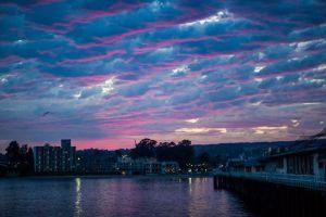 Wharf sunset